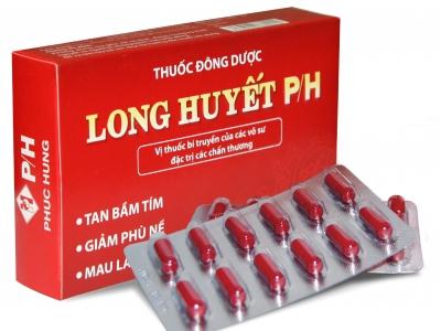 """Long huyết P/H bền vững danh hiệu """"Thuốc thảo dược số 1"""" giúp lành vết thương"""