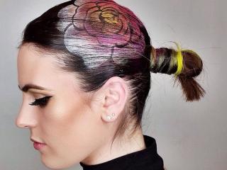 Ngắm những bức tranh vẽ trên tóc, bạn sẽ ngỡ mình đang lạc vào triển lãm nghệ thuật